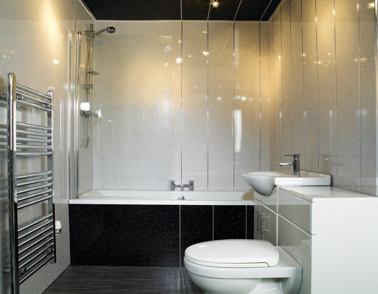 White glitter ceiling cladding for Bathrooms direct