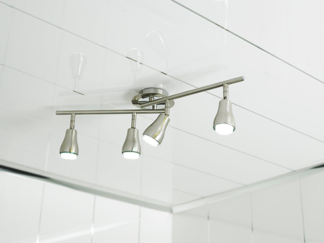 Plastic bathroom ceiling cladding - Pure Gloss White Our Best Selling Ceiling Cladding